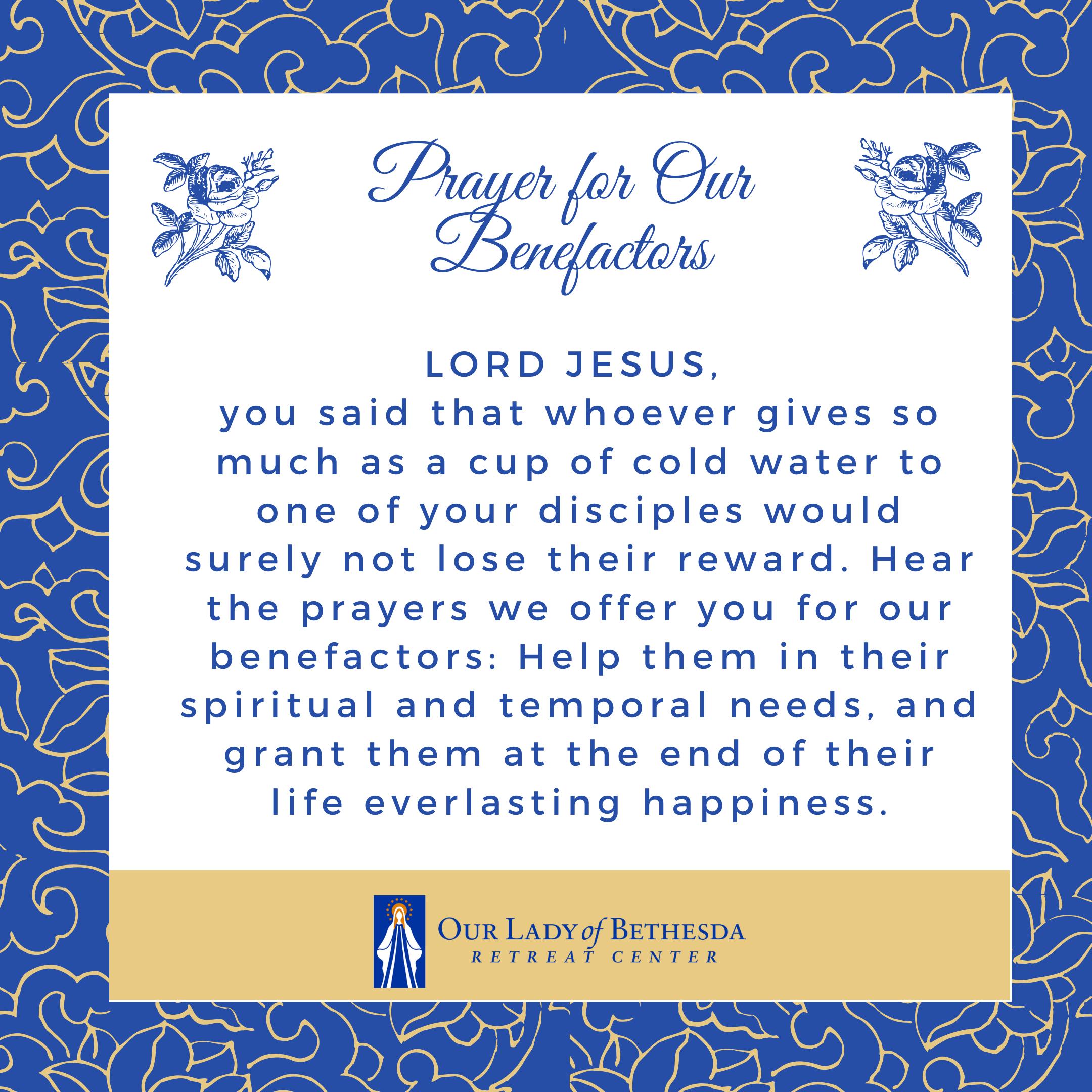 Benefactors Prayer